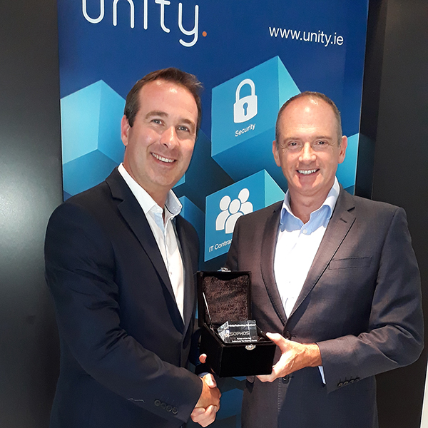 Simon Kelly, Unity and Dermot Hayden, Sophos - Sophos Partner of the Year award